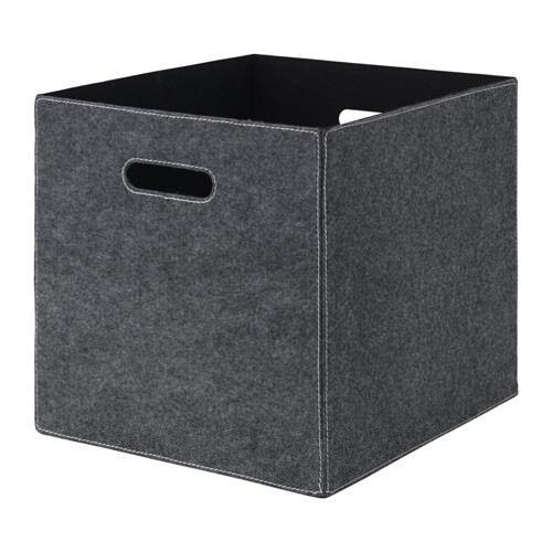 Ikea Bläddra Gris Pour Kallax étagères Panier Boîte Rangement 33x38x33cm Felt