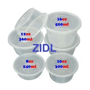 food containers takeaway clear plastic