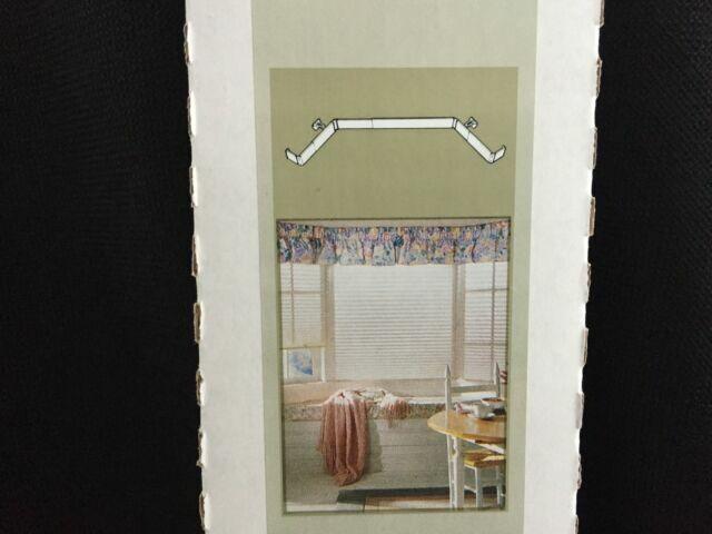 kirsch continental bay window curtain rod set