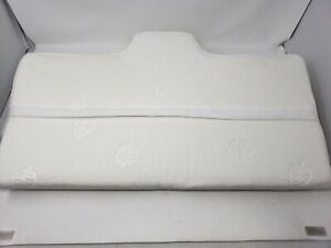 details about marnur cervical contour memory foam orthopedic pillow for neck pain white