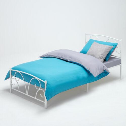 children s bedframes divan bases elegant headboard footboard white metal bed sturdy frame 3ft single bedroom kdl com ng