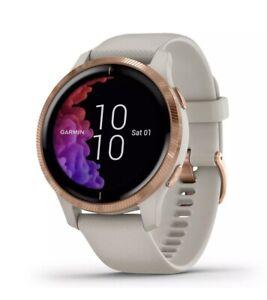 Garmin Venu Fitness GPS Smartwatch - Light Sand/Rose Gold ***New Open Box***