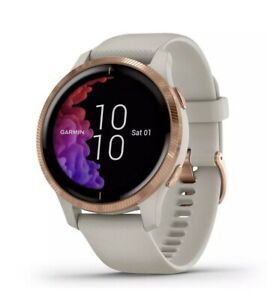 Garmin Venu Fitness GPS Smartwatch - Light Sand/Rose Gold ***New Open Box***
