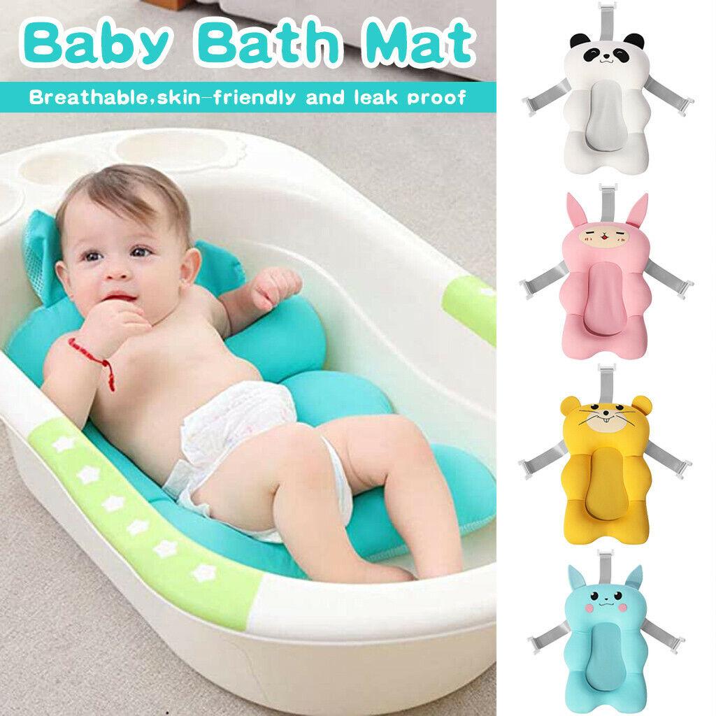 newborn shower mat infant bathtub baby bath tub pillow pad lounger air cushion