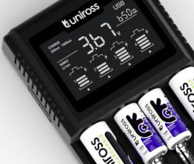 Image Is Loading Uniross Pro 3t Fast Smart Lcd Li Ion