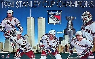 new york rangers stanley cup champions starline poster 1994 messier leetch oop ebay