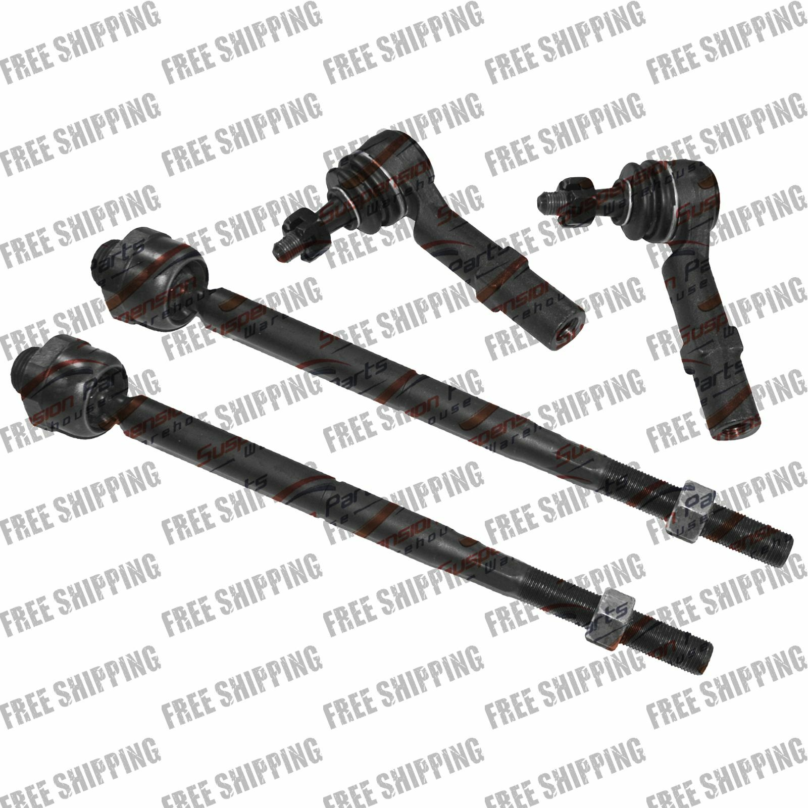 New Replacement Steering Kit Inner Outer Tie Rod End Fits