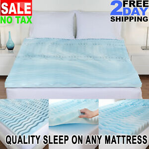 details about cooling gel memory foam pillow top mattress pad cover topper queen king full twi