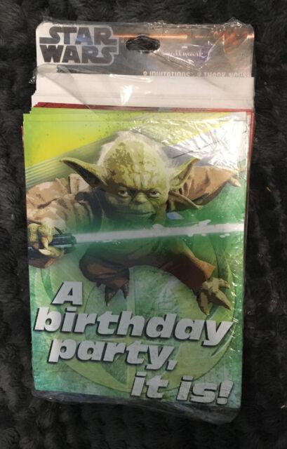 hallmark star wars a birthday party it is yoda birthday invite thank you cards