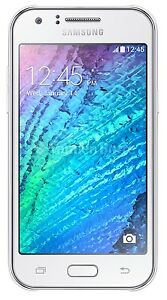 Samsung Galaxy J1 2016 8GB AT&T GSM Unlocked LTE 5MP Quad-Core Smartphone-Whi