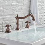 Bathroom Widespread Basin Faucet 3 Holes Sink Mixer Oil Rubbed Bronze Tap
