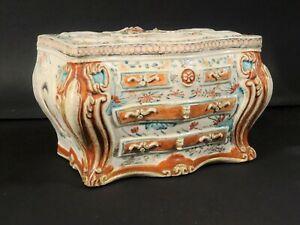 "Rare Antique Chinese Famille Rose ""Commode"" Bough Pot - Qianlong, circa 1770"