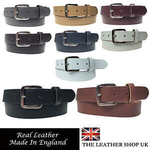 """... Mens Womens 1.25"""" Wide Real Leather 30mm Made In England Belt   eBay"""