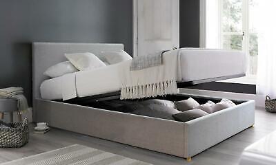 lit coffre sampur capitonne verins de relevage securises avec ou sans mat ebay
