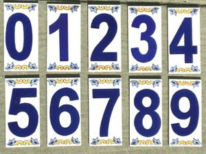 details about mediterranean house address number ceramic tile handmade hand painted