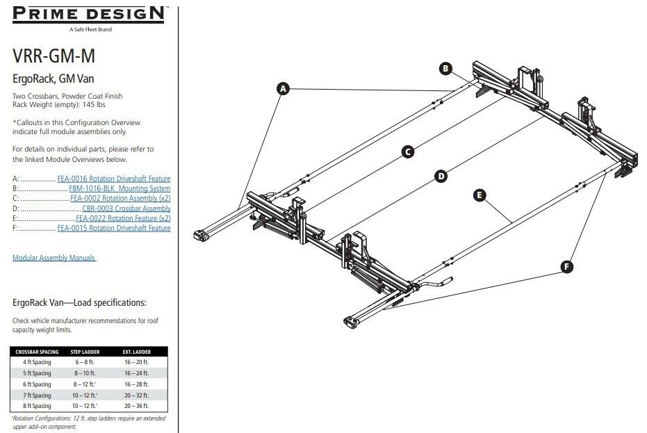 prime design vrr gm m gm van rack 2