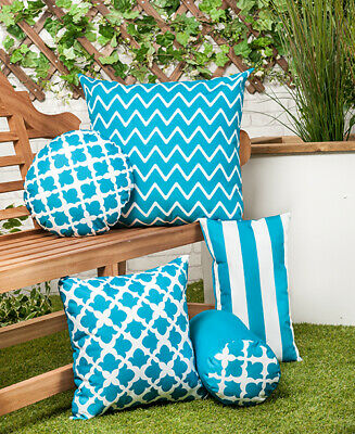 teal arabesque collection scatter cushions garden pad water resistant outdoor ebay