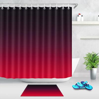 bathroom accessories mat red black gradient shower curtain set waterproof fabric ebay