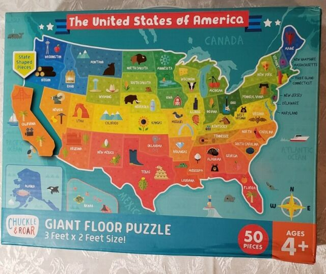 Here are some of the most demanding jigsaw puzzles around. Usa Map 50 Piece Jigsaw Floor Puzzle Chuckle And Roar For Sale Online Ebay