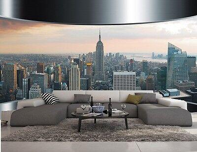 Goditi spedizione gratuita in tutto il mondo! Wallpaper 3d Effect New York Metal Photo Mural Modern Design Ebay