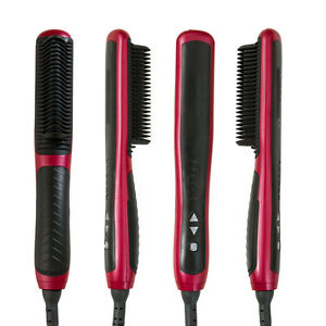 hot electric brush hair straightener lcd anion straight b curling hair tool