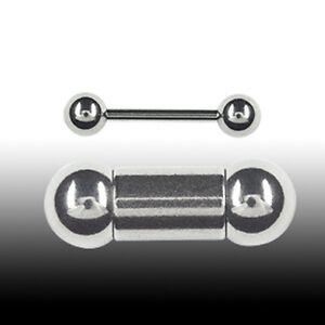 3mm Piercing Stab Barbell mit Kugeln Ohr Brust Intim Piercing Hantel dicker Stab