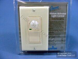 Leviton Almond Single Pole Motion Activated Light Sensor Occupancy Switch 6780A 78477881170   eBay