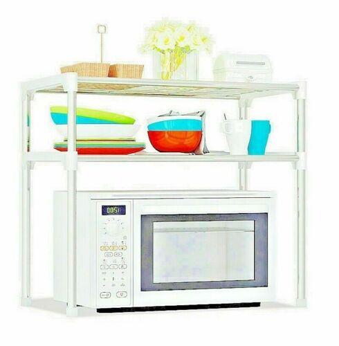 2 tier kitchen storage shelf shelving rack microwave oven stand pantry organiser