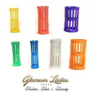 head jog orange 40mm hair rollers x 12 free roller pins skelox ebay