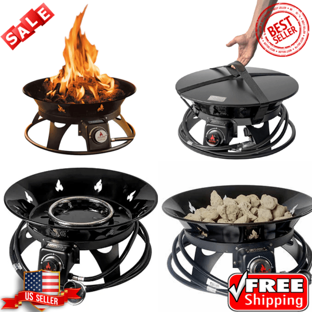 OUTLAND Firebowl Cypress Outdoor Firepit Carry Kit ... on Outland Living Cypress Fire Pit id=31167