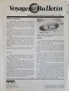 NASA/JPL Voyager Mission Status Bulletin, 43 issues, April ...