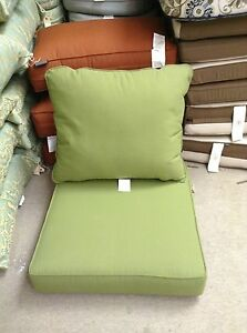 details about frontgate outdoor patio chair sofa cushions 24x24 olive green villa martinique