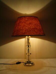 details sur lampe morand boule verre pied bronze nickele octogonale jacques adnet art deco