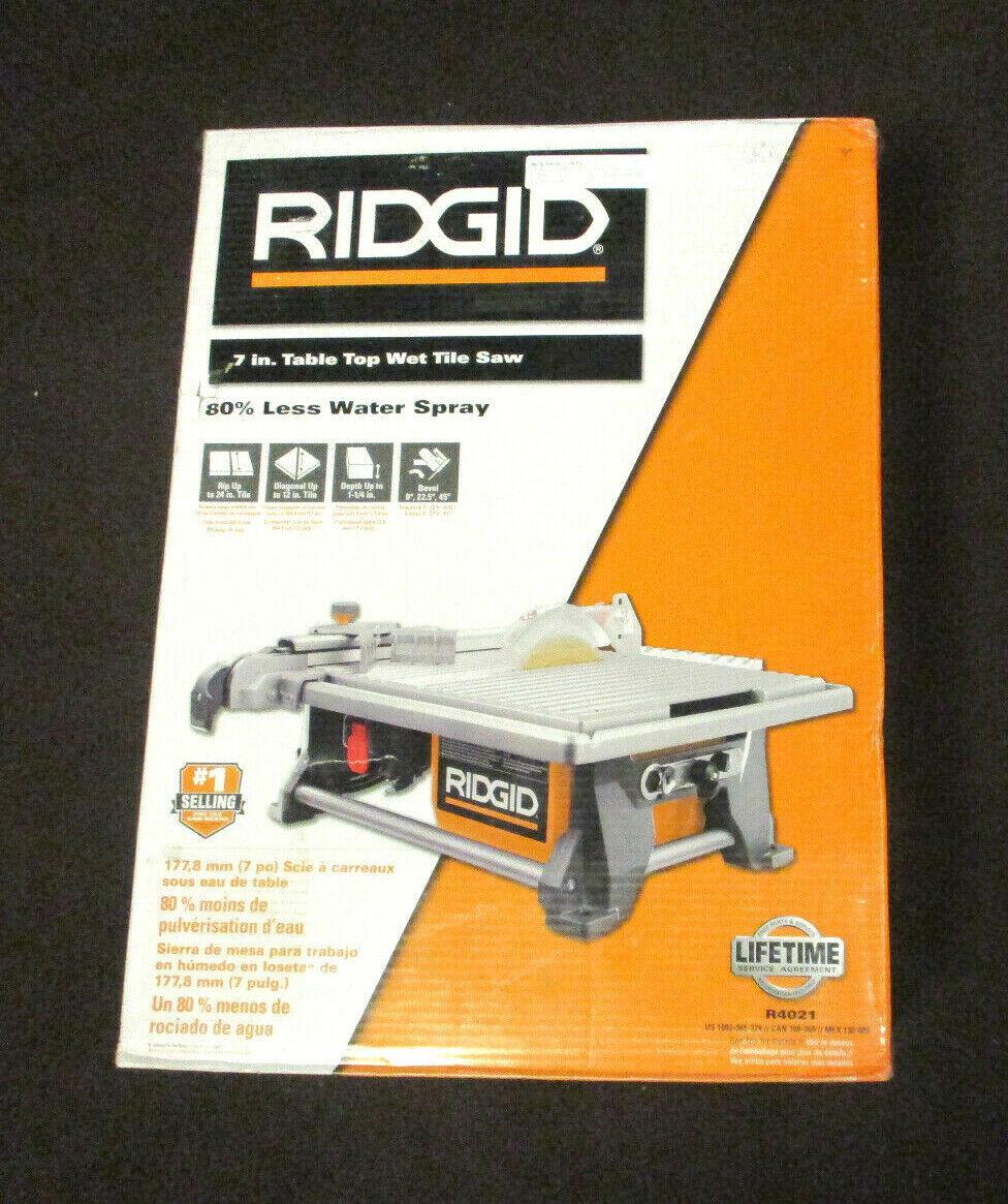 ridgid r4021 7 inch 6 5ah table top wet tile saw