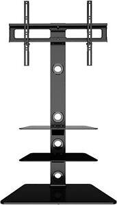 details sur meuble avec support cantilever tele pied pivotant pour tv de 32