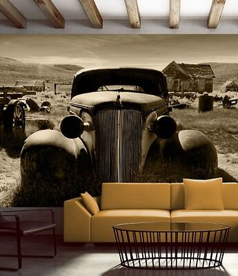 It's available in a seemingly unending va. Wall Mural Photo Wallpaper Old Car Farm Bedroom Living Room Decor Brown Ebay