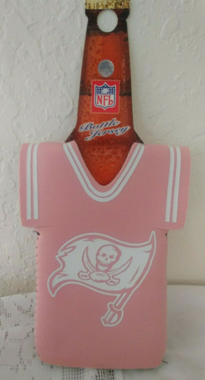 NFL Football Beer Bottle Jersey Holder Koozie BUCCANEERS Pink 00  NEW