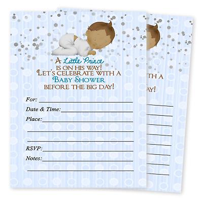 Prince Baby Boy Shower Invitations Favors Boys Invites Decorations Cards Qty 20 Ebay