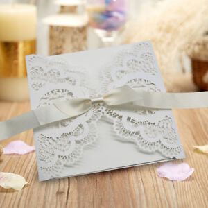 Image Is Loading 50pcs Wedding Invitation Card Personalized Laser Cut Party