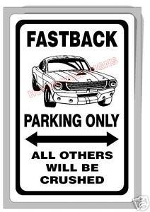 1967/68 fastback mustang ford seitenscheibe grün fahrerseite. 67 68 69 Ford Mustang Fastback Fast Back Parking Sign Ebay