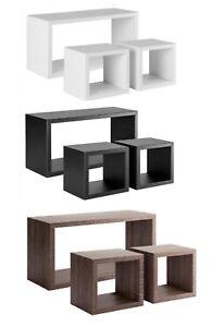 Relaxdays 10021900_53 cubi da parete, mensole cube, design moderno, 4 scomparti, legno mdf, hxlxp: Mensola Da Parete Moderna Pensili A Giorno Mensole Design Tribu Ebay