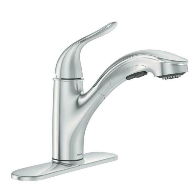 moen 87557 pull out sprayer kitchen faucet chrome