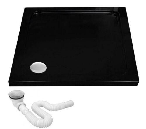 bac receveur de douche baignoire 6 cm savoy black rea 80 80 90 90