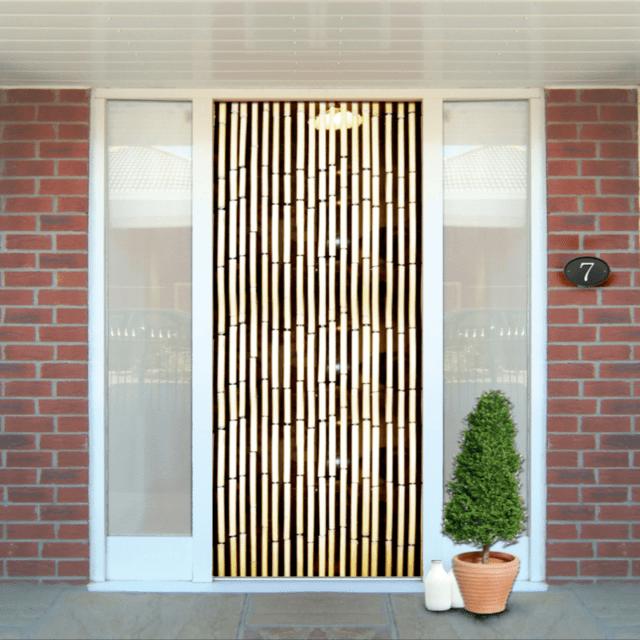 kingfisher bamboo door screen curtain 90x200cm brown