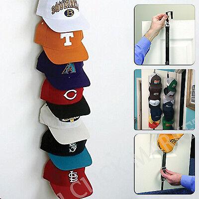 baseball cap rack holder 18 hats organizer storage closet door hat rack hanger ebay