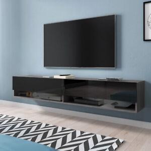 details sur meuble tv a suspendre et a poser wander 180 cm design moderne