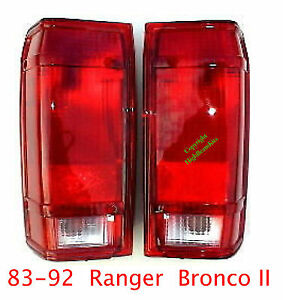 83 92 Ford Ranger & Bronco II Tail Lights Set, Left