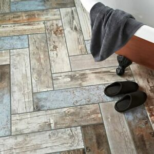 details about reclaimed rustic blue wood effect porcelain 60x15 wall floor tiles per sqm