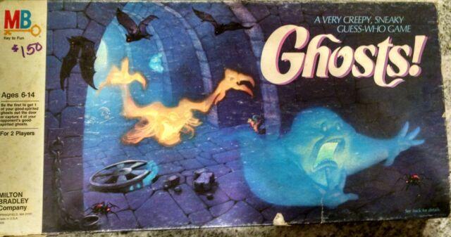 Vintage Milton Bradley Ghosts Board Game 100 Complete 1985 For Sale Online Ebay