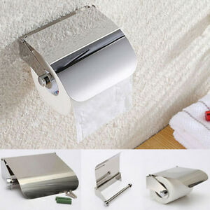 Stainless Steel Bathroom Toilet Paper Holder Roll Tissue ... on Wall Mounted Tissue Box Holder id=55304